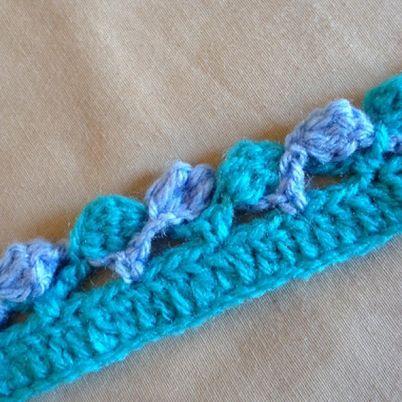 146 best crochet edges borders images on pinterest crochet crochet a nice two color edge ccuart Images