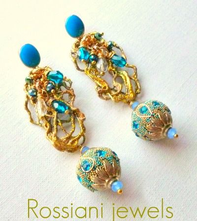 Bluette, Colors line - mixed crystals - Rossiani Jewels - Italian handmade jewels - Made in Italy