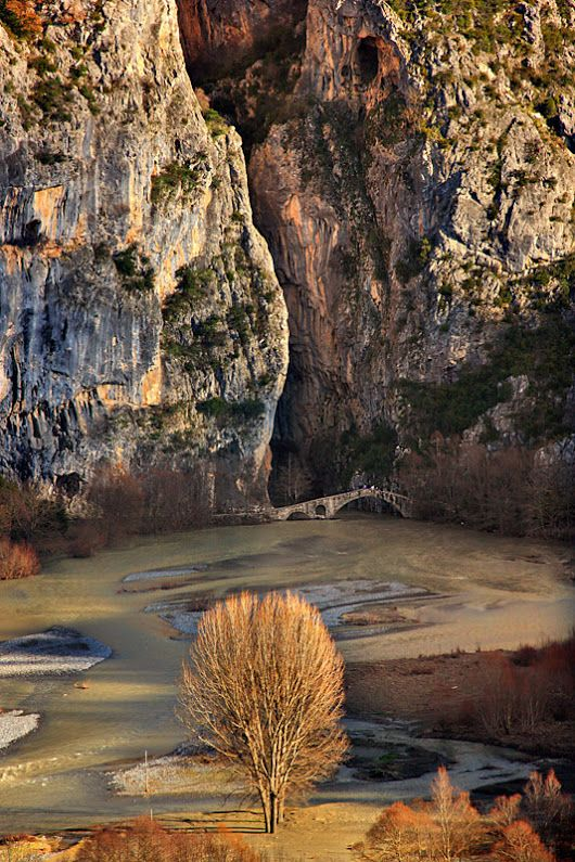 Portitsa stone bridge and canyon by Cretense