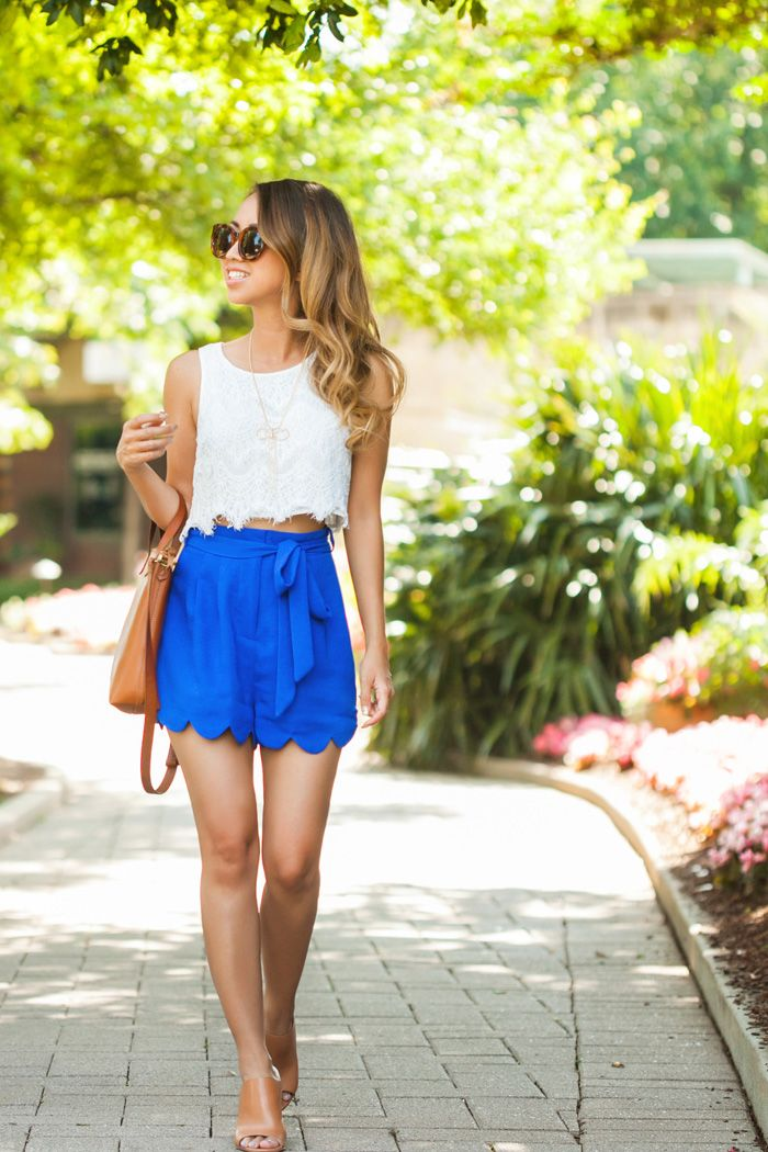 25  best Scalloped shorts outfit ideas on Pinterest | Spring ...