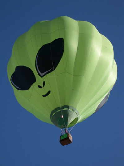 alien hot air balloon