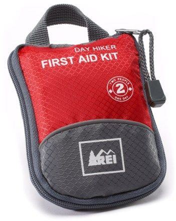 REI Day Hiker First-Aid Kit - Red / Gray