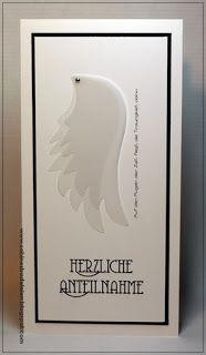 Sabines Basteleien: ~ Trauerkarte ...