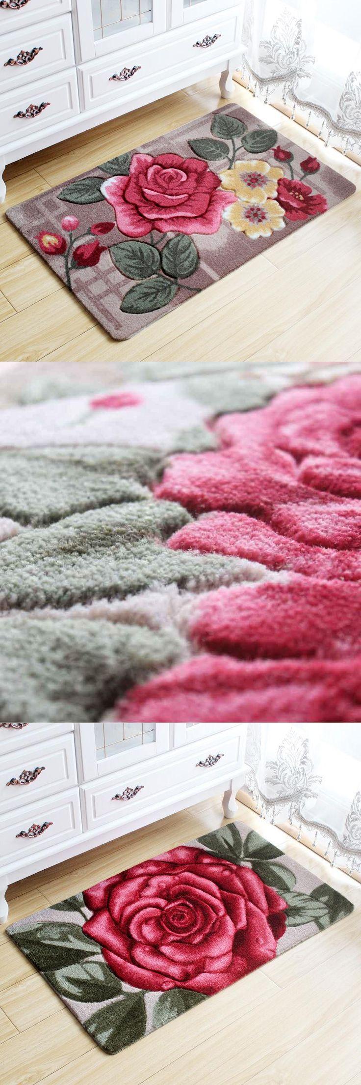 [Visit to Buy] Big 3D Flower Carpet Kids Room,Kitchen Rugs Bathroom Carpet,Doormat,Tapete Para Quarto,Entrance Door Mats Outdoor,Cheap Bath Mat #Advertisement
