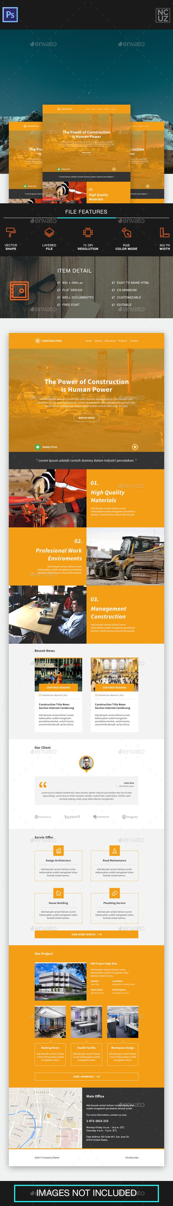 Construction Company E-newsletter Template PSD. Download here: http://graphicriver.net/item/construction-company-enewsletter/15236358?ref=ksioks