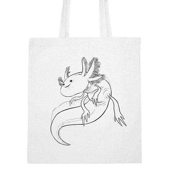 #handprinted #cotton_bag #jute #bag #cotton #shopping_bag #shopping #eco #nature_lover #axolotl
