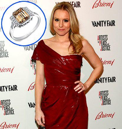 Kristen Bell #engagement #ring