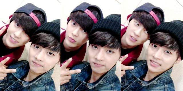 Image result for BTOB's Minhyuk and VIXX's N