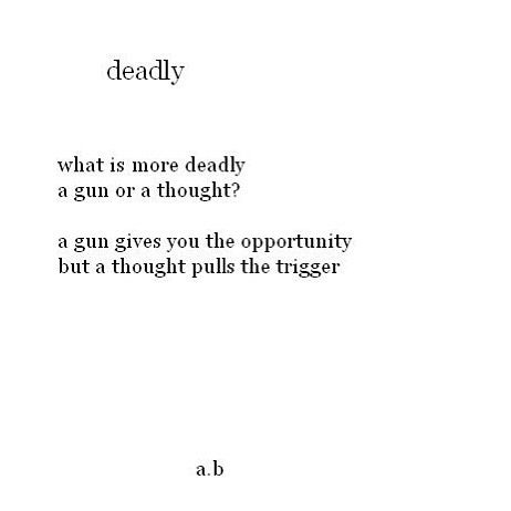 Unfortunate that there are so many thoughts leading to deadly actions.