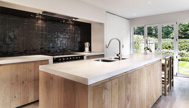 25 beste idee n over rustieke keukens op pinterest for Keuken landelijk modern