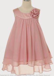 vestidos de niña rosado - Buscar con Google                                                                                                                                                                                 Más