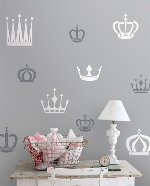 Royal Crowns Wall decals vinyl stickers by LivingWall on Etsy