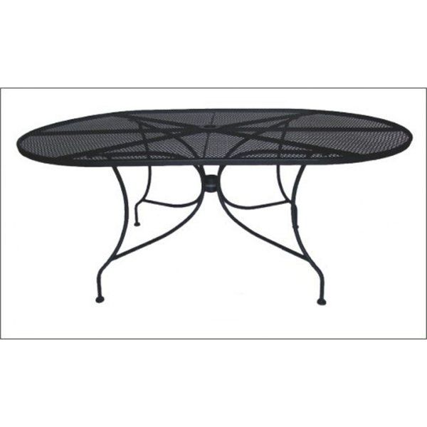 Best Comfortable Charleston Oval Wrought Iron Dining Table By Dc