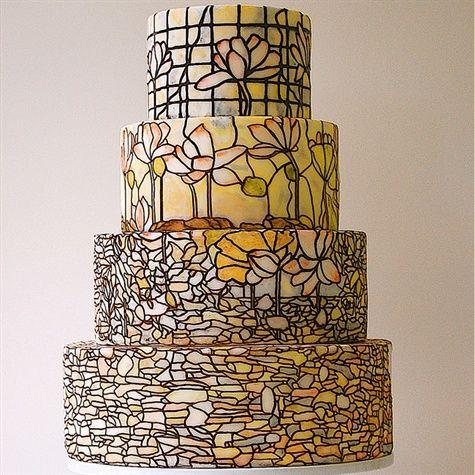 Tiffany Lamp inspired cake