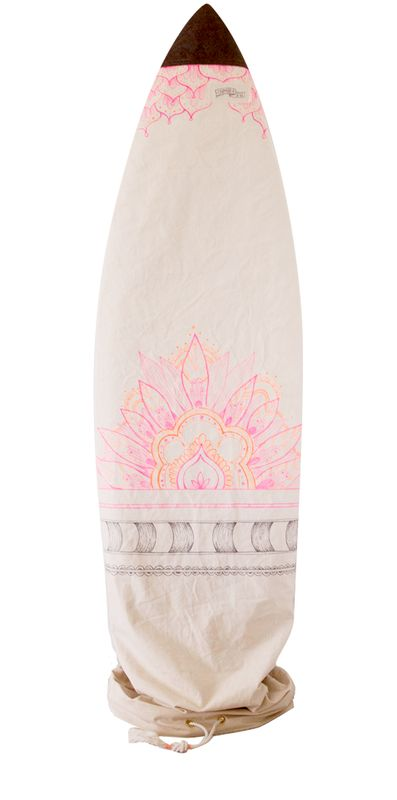 pink mandala surfboard bag by chapman at sea for wild wolf collective