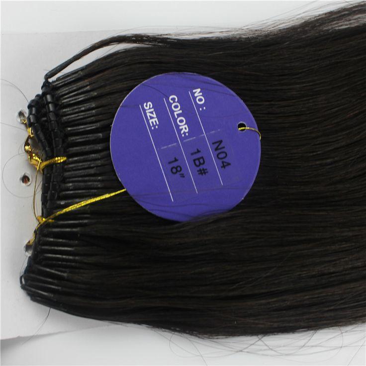 Mongolian Hair Extensions 100 Beads Black Brown Straight Human Hair Micro Nano Ring Hair Extensions