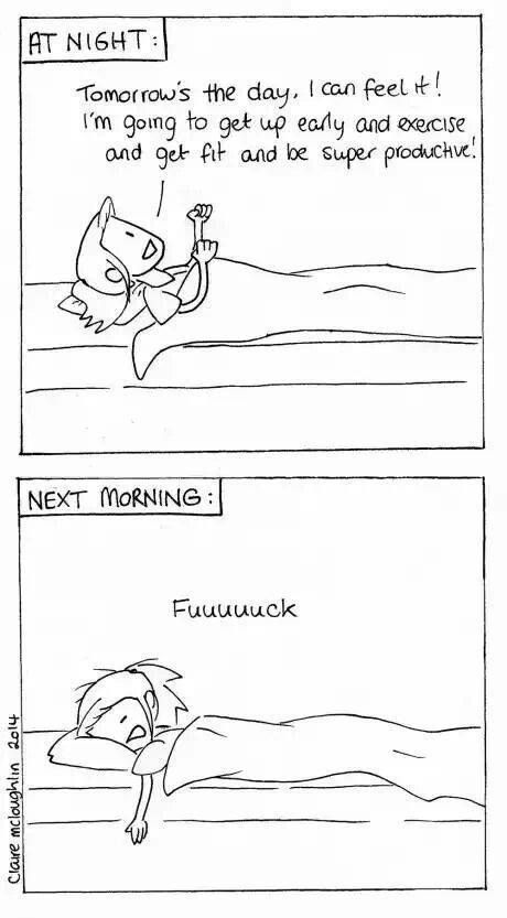 Every night and every morning!!