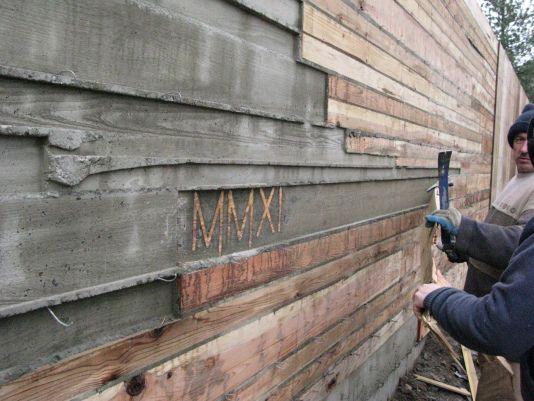 Board Formed Concrete Meadow House Board Formed Concrete Concrete Retaining Walls Concrete Board