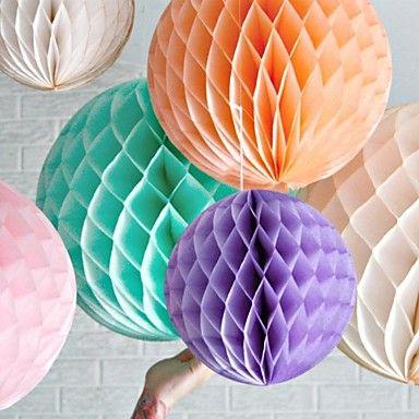16 inch honingraat weefsel papieren bloem bal (meer kleuren) – EUR € 8.64