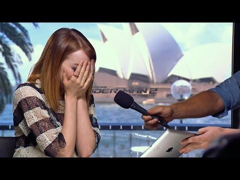 Watch the whole video here! | Emma Stone Cries After One Of The Spice Girls Sends Her A Message