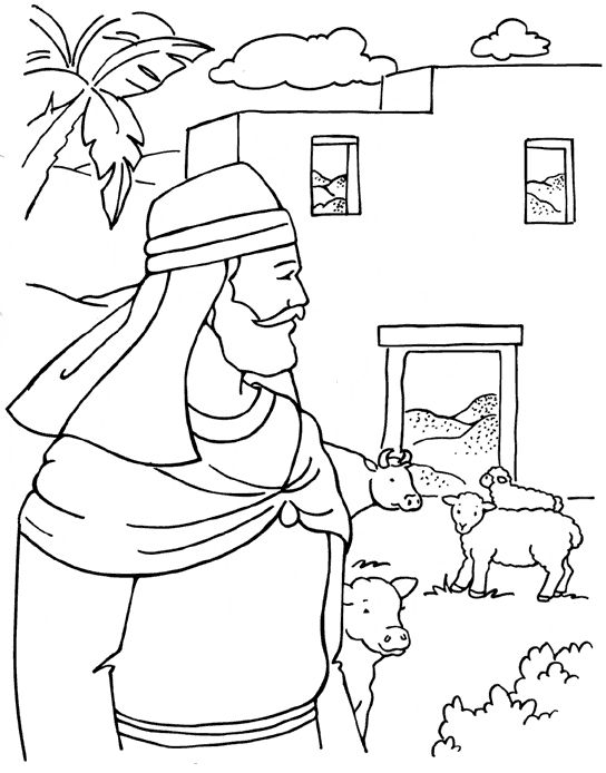 the greedy farmer coloring page