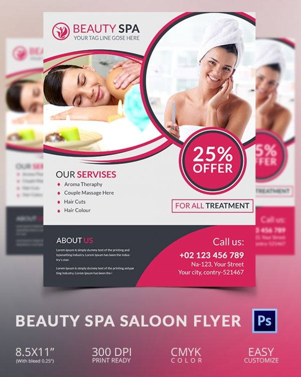 Beauty Spa Saloon Flyer Design