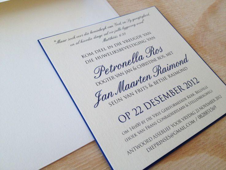 Afrikaans Wording For Wedding Invitations Wedding Invitation Wording Wedding Invitations Birthday Invitations