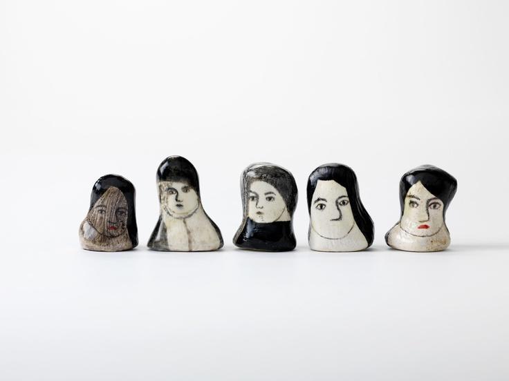 Ceramic heads - Laura Carlin