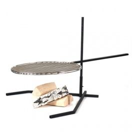 Unique and handy grill on foot. The height of the grate is easily adjustable. Made by Neo-Spiro.