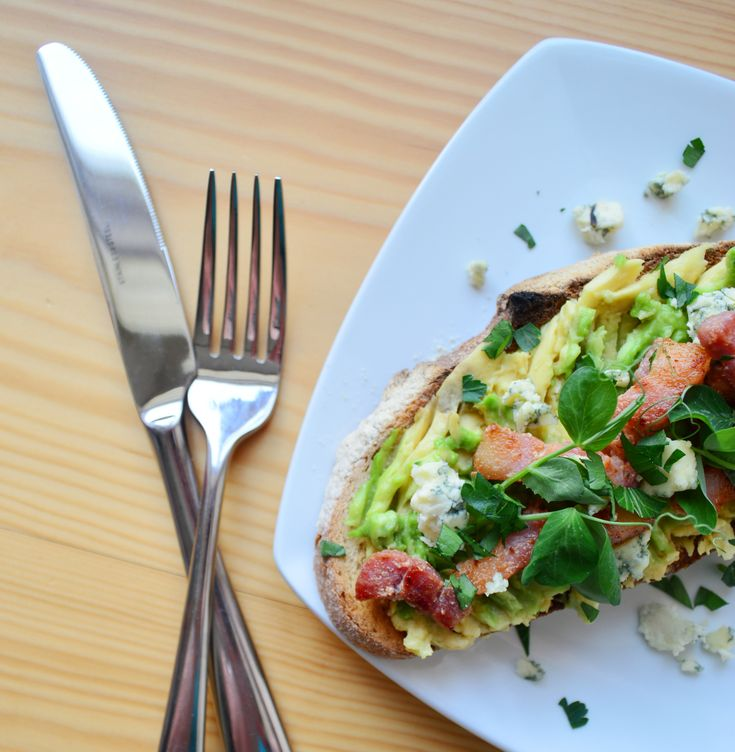 Avocado Toast with Bath Blue Cheese - Sal's Kitchen for Taste of Bath
