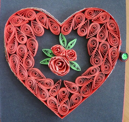 1148 best quilling corazones images on pinterest for Quilling heart designs