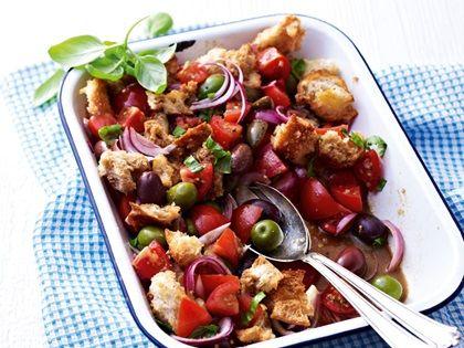 #Alnatura #Tomaten-Brot-Salat mit Oliven