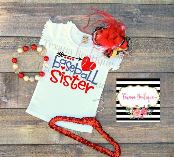 Baseball sister shirt girls baseball shirt by TexanaBoutique