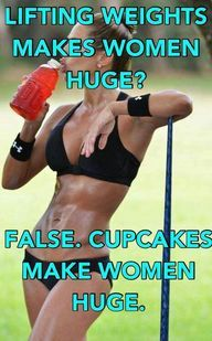 """Women do not become """"muscular"""" without intensive heavy weight lifting (or steroids). 100% of women will become huge overeating."""