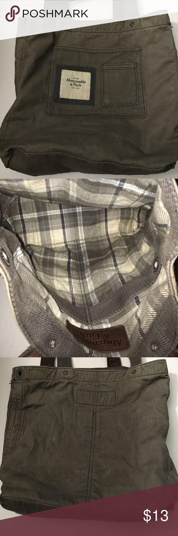 Abercrombie Tote Gently used, good condition. Minor wear used to go to picnics and pool. Cargo utility bag. Abercrombie & Fitch Bags Totes