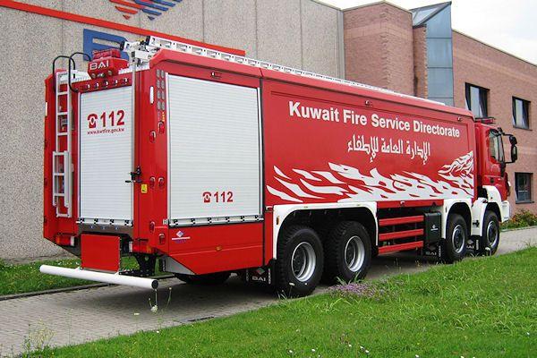 Großtanklöschfahrzeug für die #Feuerwehr Kuwait auf  Astra HD9 84.44 mit Truppkabine.