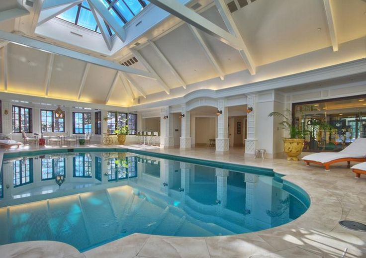 Beautiful indoor swimming pool - I would have one in my house if I could.