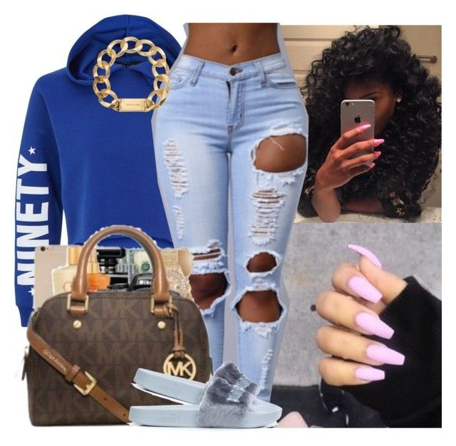 """""""blue"""" by whatevas ❤ liked on Polyvore featuring New Look, Puma, Michael Kors and JanitaLuckett"""