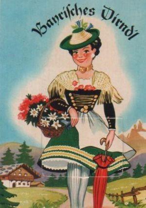 Postkarte: Berchtesgaden - Bayrisches Dirndl - 1963 – gebraucht kaufen bei booklooker – jetzt online bestellen - A01a952B01ZZh
