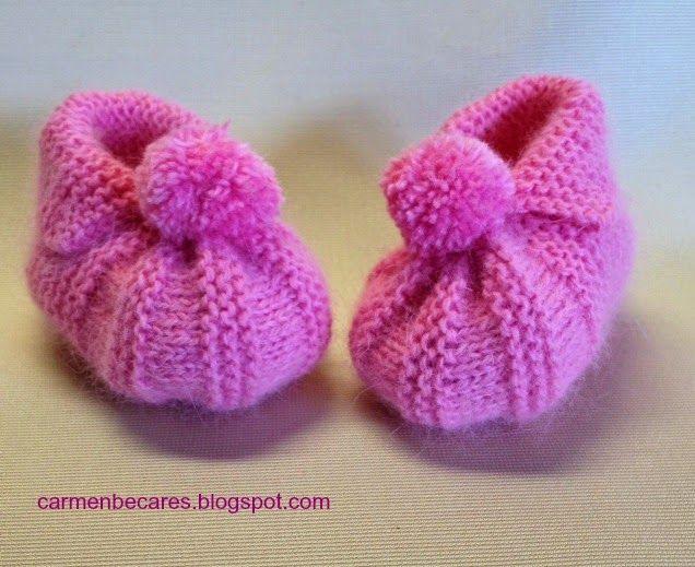 BABY BOOTIES. PATUCOS BEBE. ( TUTORIAL) | Aprender manualidades es facilisimo.com