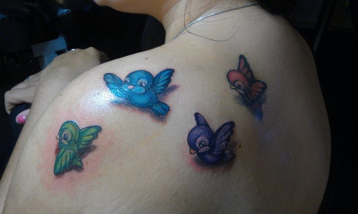 my Disney birds tattoo Love them!