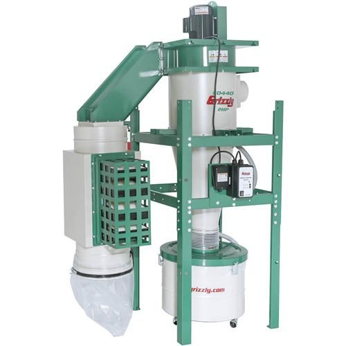 2 HP Dual-Filtration HEPA Cyclone Dust Collector | Grizzly Industrial