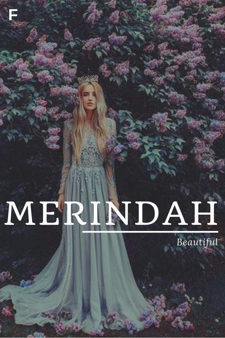 Merindah, meaning Beautiful, Australian names, M b…