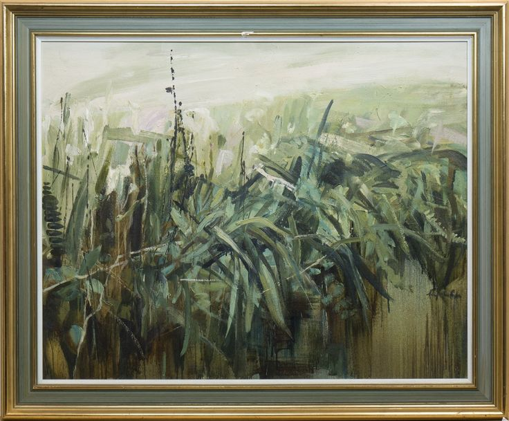 Perpetua Pope - DITCH WITH FERNS, oil on canvas