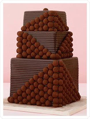#Chocolate #truffle #wedding #cake