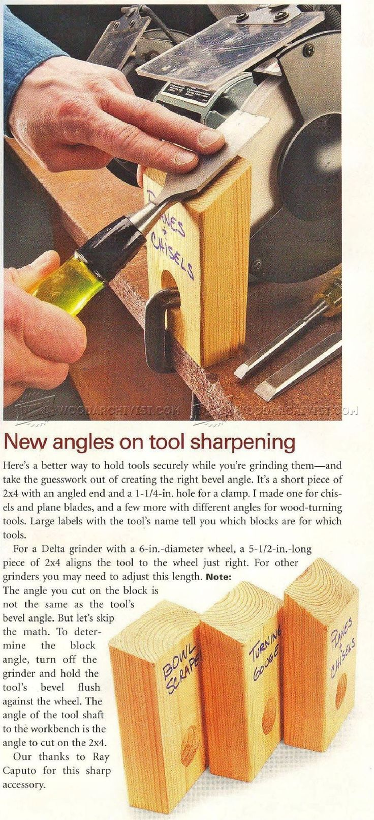 New Angles on Tool Sharpening - Sharpening
