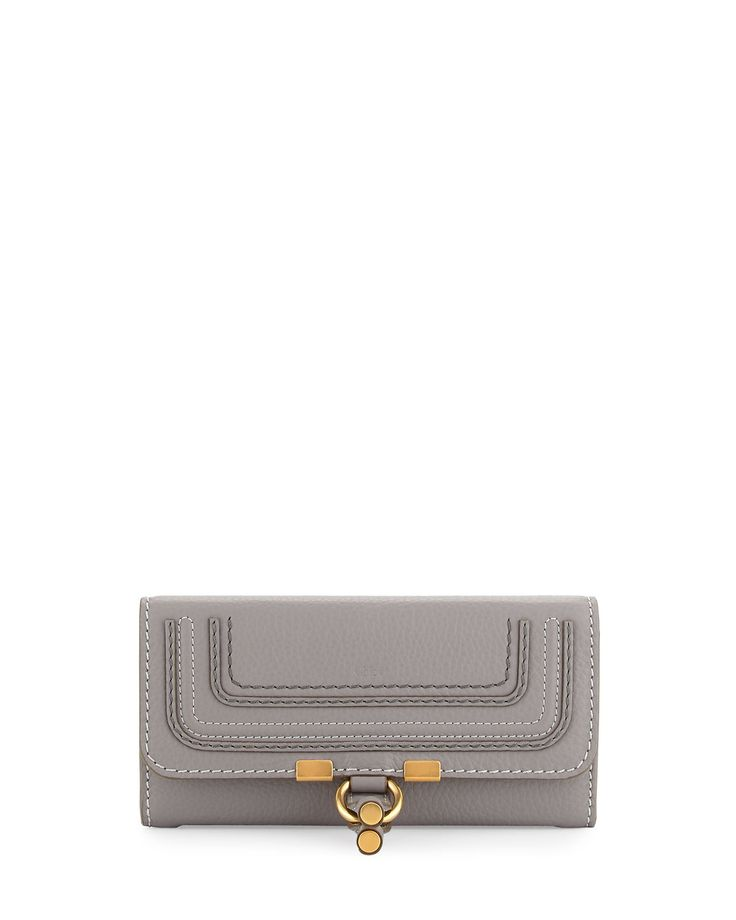 Marcie Continental Flap Wallet, Gray - Chloe