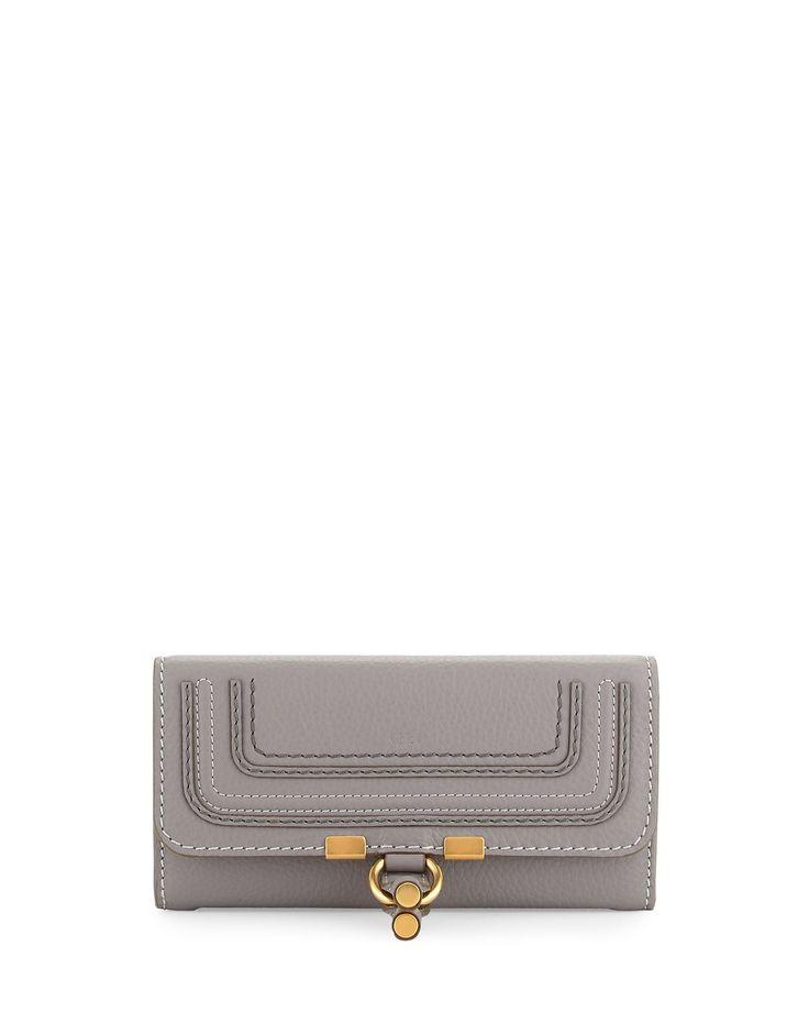 Marcie Continental Flap Wallet, Gray - Chloe