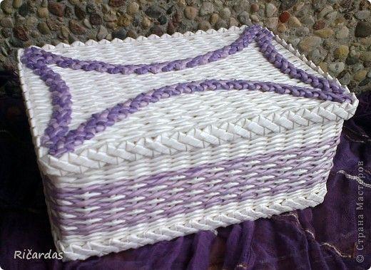 Поделка, изделие Плетение: Белый набор Бумага газетная, Бусинки, Картон. Фото 1
