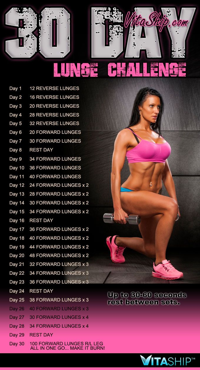 Get Strong and Sexy with the 30-Day Lunge Challenge